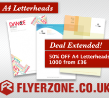 1000 A4 Letterheads from £36 – NOW CLOSED