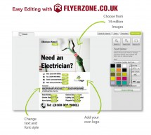 Personalise your electrician flyers in minutes!