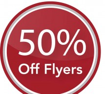 January Sale! Get half price flyers