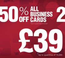 25% off flyers and half price business cards in July!