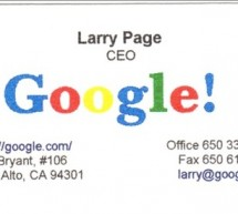 Larry Page's First Business Card
