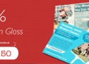 Save 50% On 150gsm Gloss Leaflets and Flyers