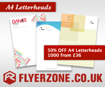 1000 A4 Letterheads from £36