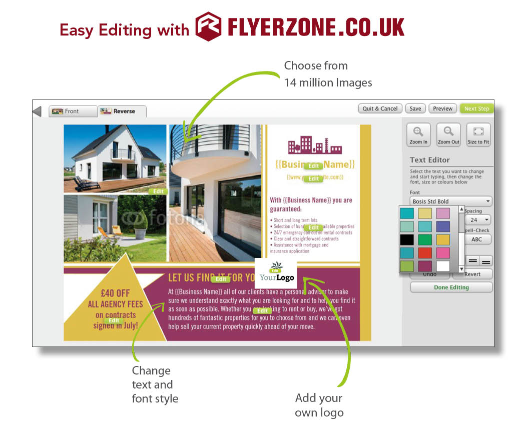 Design and Print Flyers and Leaflets for Estate Agents ...