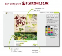 Gardeners – see how to get your flyers in minutes with Flyerzone.co.uk!