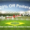 20% off posters until England are knocked out!
