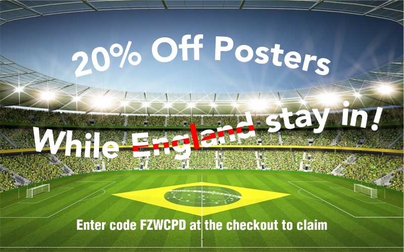 20% off posters while England stay in!